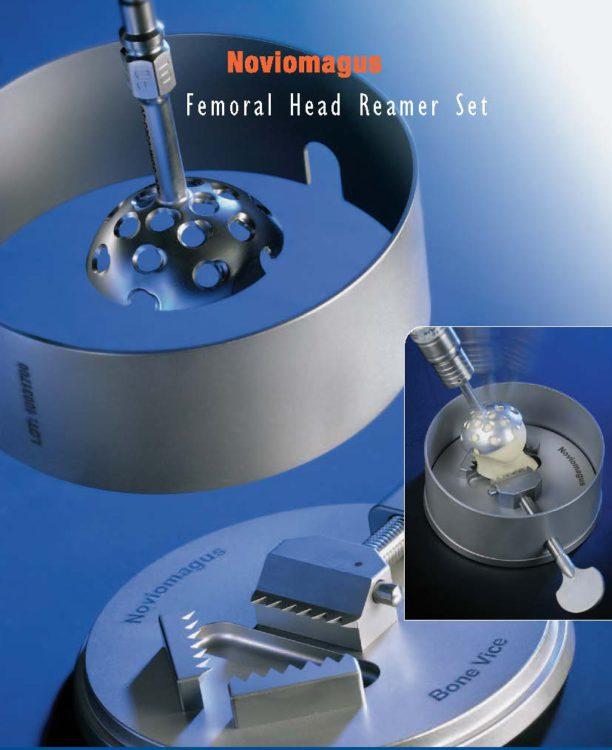 femoral head reamer set voor het verwijderen van het kraakbeen van de femur kop